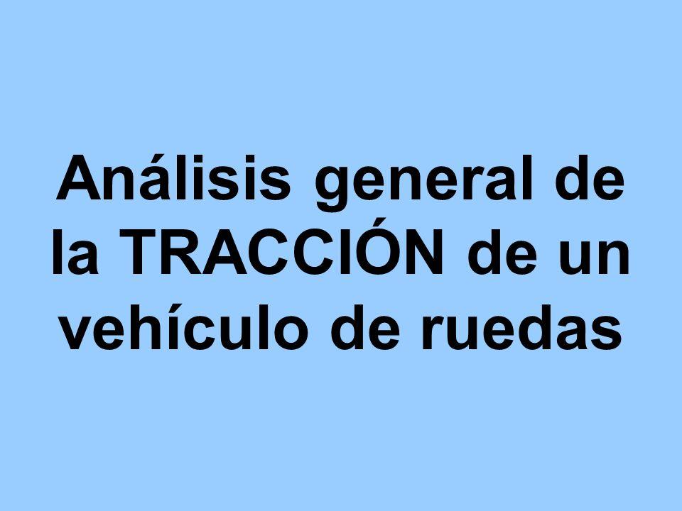 Análisis general de la TRACCIÓN de un vehículo de ruedas