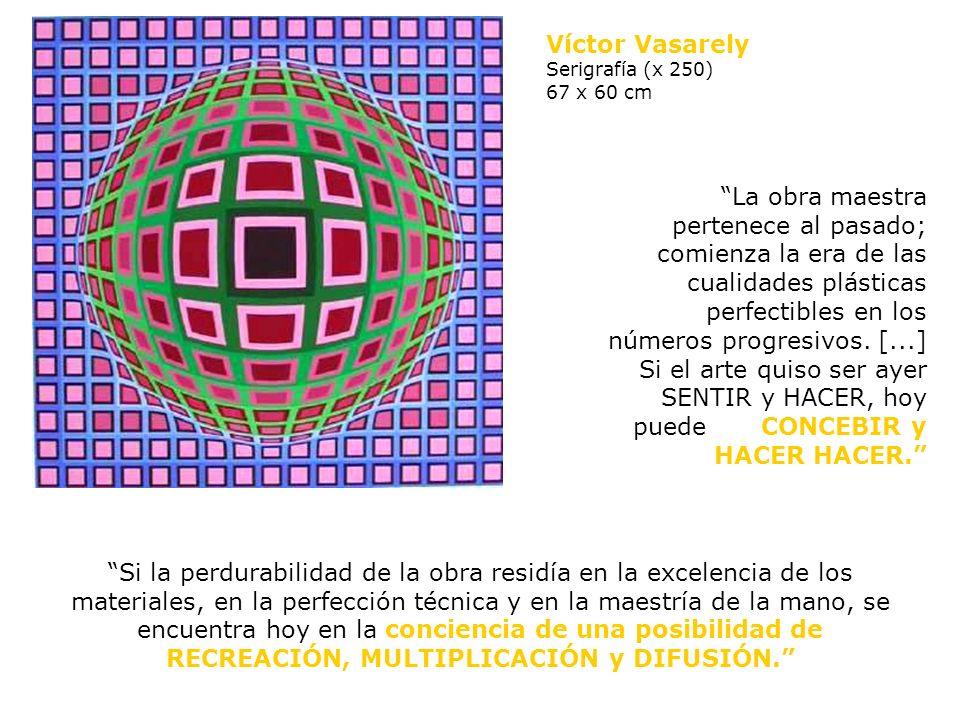 120 x 200 x 20 cm vidrio - metal Víctor Vasarely Bi-forma 1962