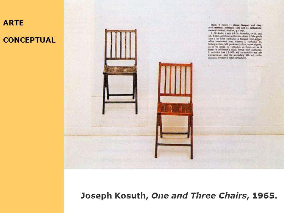 Joseph Kosuth Arte como idea como idea [agua] 1966 Joseph Kosuth Arte como idea como idea [nada] 1968