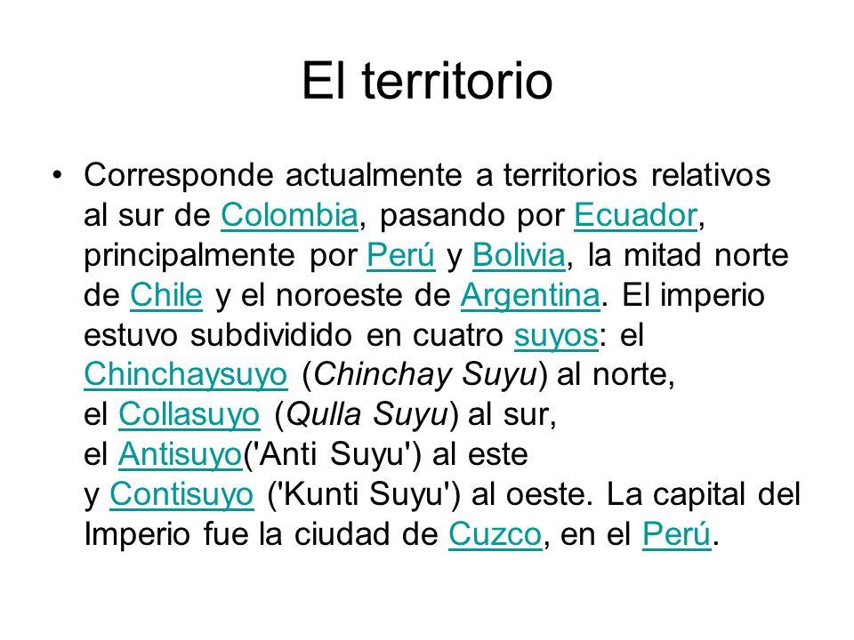 El territorio Corresponde actualmente a territorios relativos al sur de Colombia, pasando por Ecuador, principalmente por Perú y Bolivia, la mitad nor