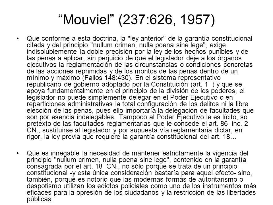 Mouviel (237:626, 1957) Que conforme a esta doctrina, la