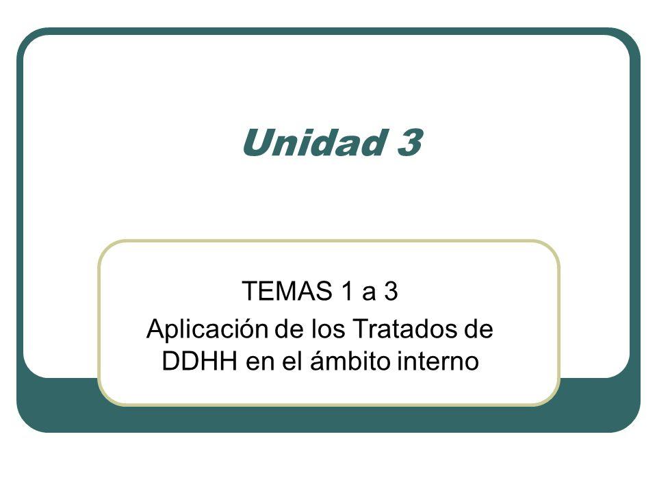 Unidad 3 TEMAS 1 a 3 Aplicación de los Tratados de DDHH en el ámbito interno
