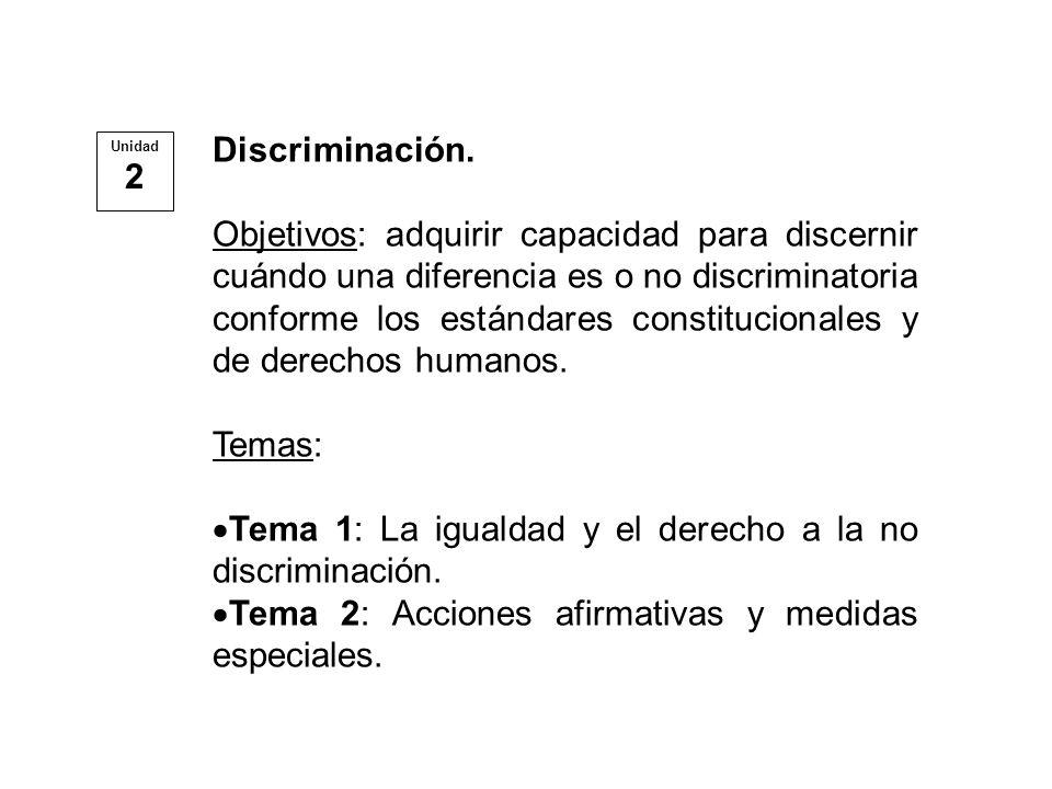Una Diferenciación de trato es legítima cuando Obedece a una justificación razonable.