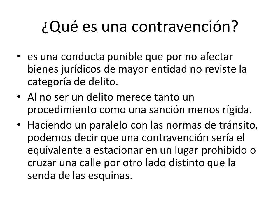 ¿Qué es una contravención? es una conducta punible que por no afectar bienes jurídicos de mayor entidad no reviste la categoría de delito. Al no ser u