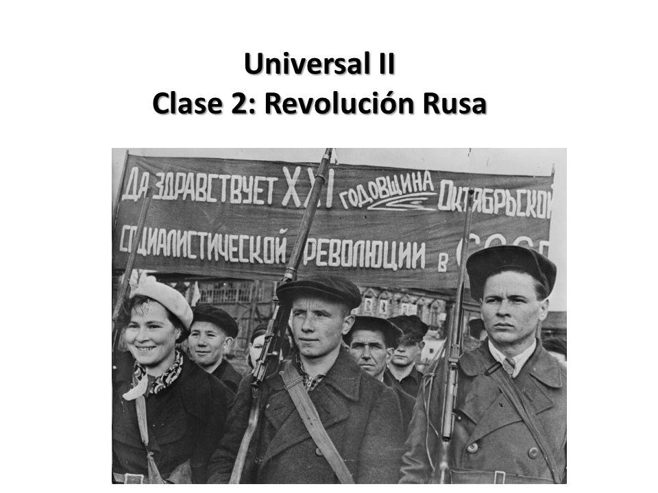 Universal II Clase 2: Revolución Rusa