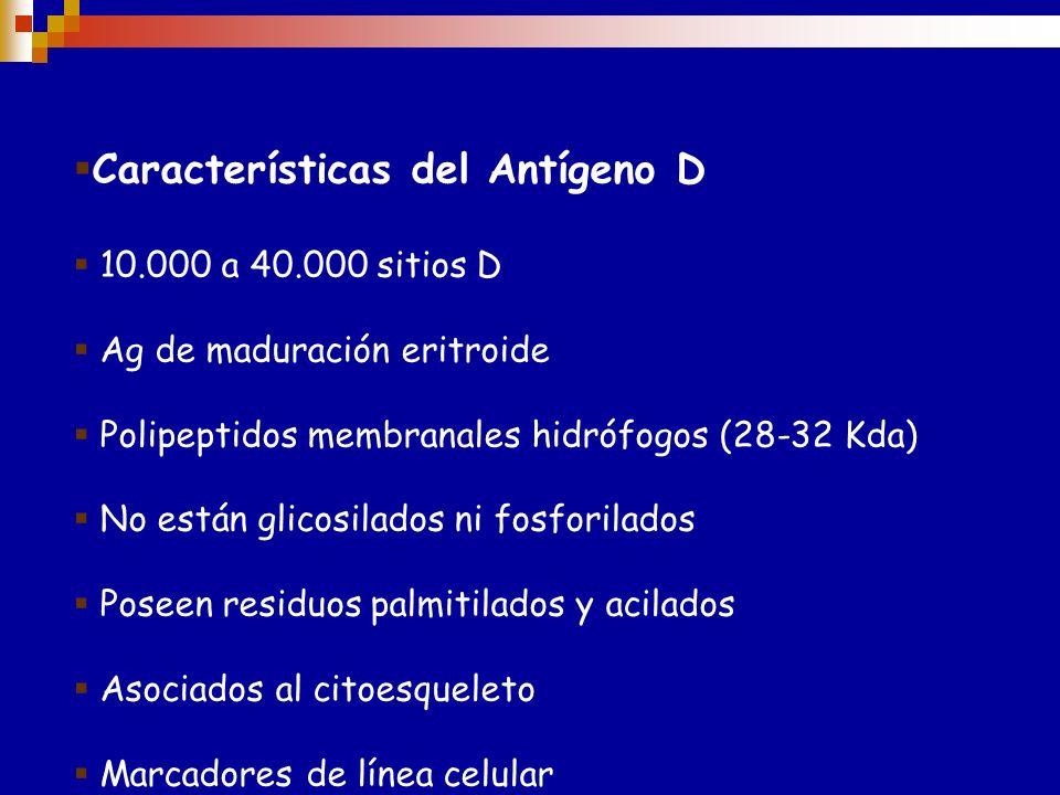 Número de antígenos: > 48 Terminología: ISBT (símbolo) RH ISBT (número) 004 Otros nombres Algunas veces llamado incorrectamente sistema Rhesus Expresi