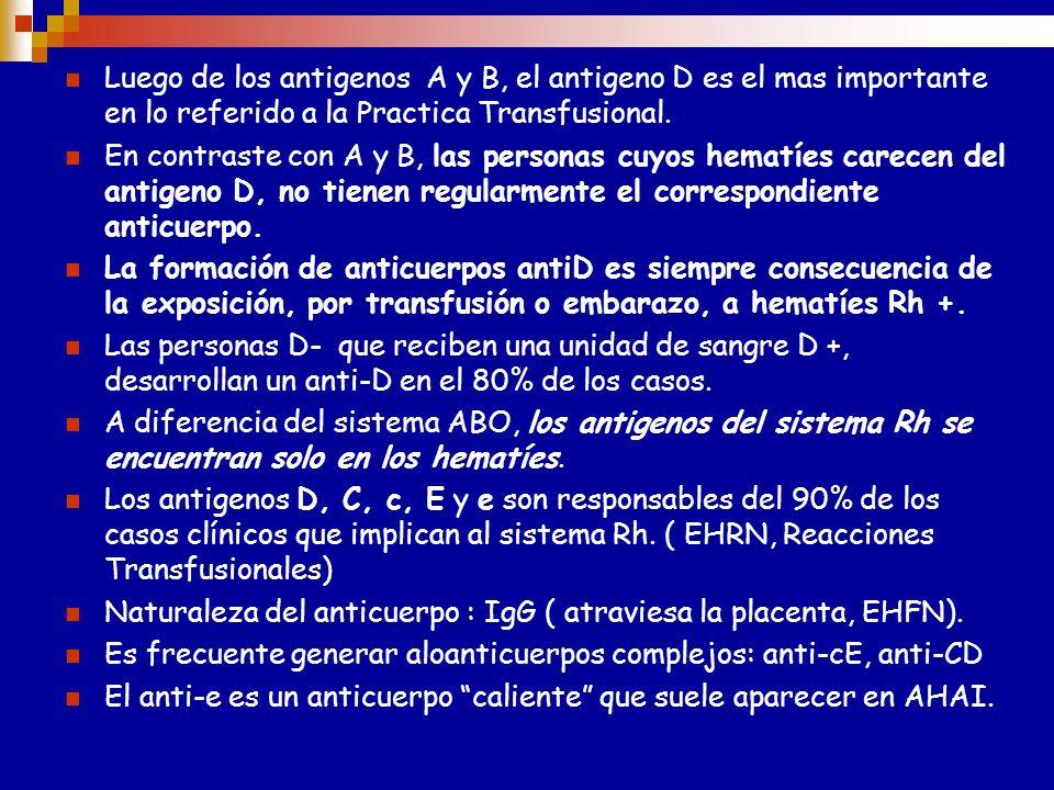 Asociación a enfermedades Los individuos con fenotipos Rh null padecen anemia hemolítica compensada. Se ha observado una expresión reducida de los Ag