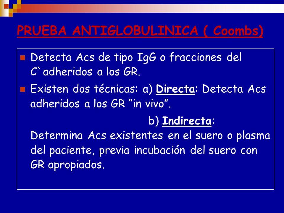 Reactivo Monoespecifico: Anti-IgG,Anti-IgM, Anti-IgA Anti-C3d, Anti-C3b, Anti-C4b Se obtienen de modo análogo,inyectándolas distintas fracciones separ