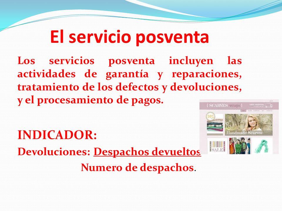 El servicio posventa Los servicios posventa incluyen las actividades de garantía y reparaciones, tratamiento de los defectos y devoluciones, y el proc