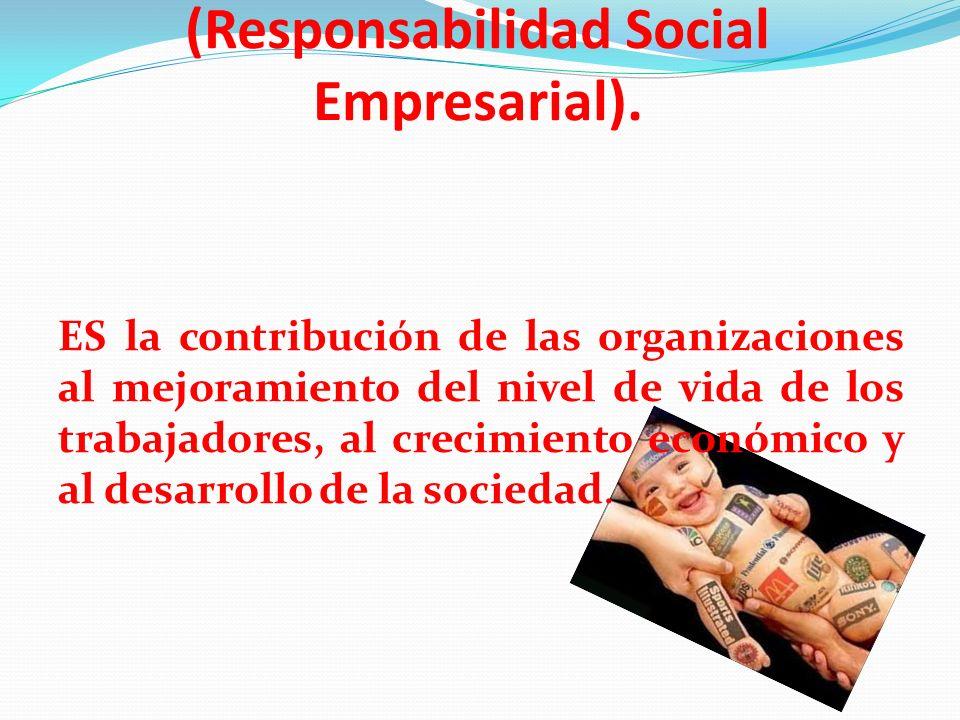 Balance Social (Responsabilidad Social Empresarial). ES la contribución de las organizaciones al mejoramiento del nivel de vida de los trabajadores, a