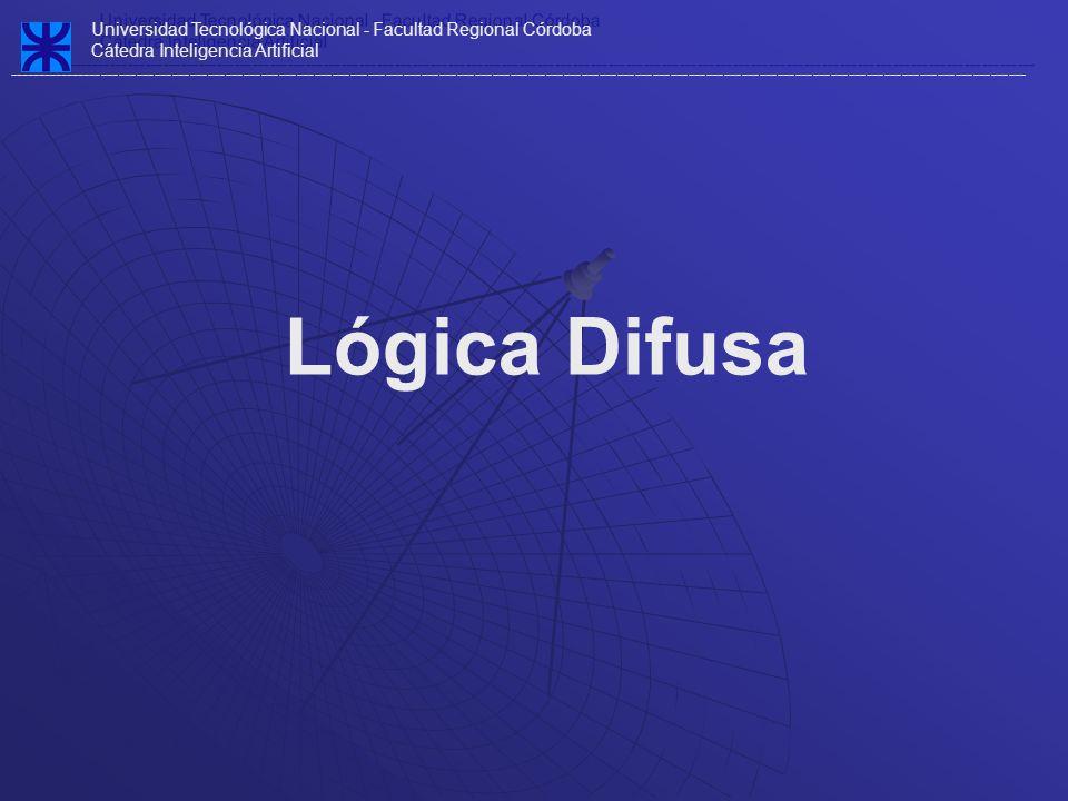 Definición Cuando hablamos de lógica difusa, el adjetivo difuso se debe a que en esta lógica, los valores de verdad son no-deterministas y tienen, por lo general, una connotación de incertidumbre.