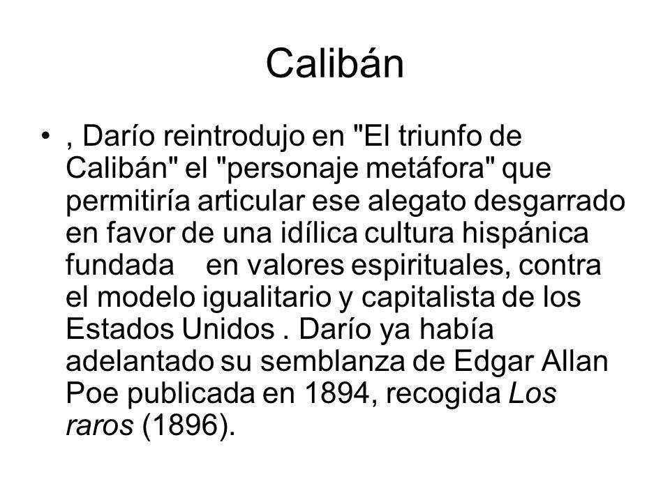 Calibán, Darío reintrodujo en