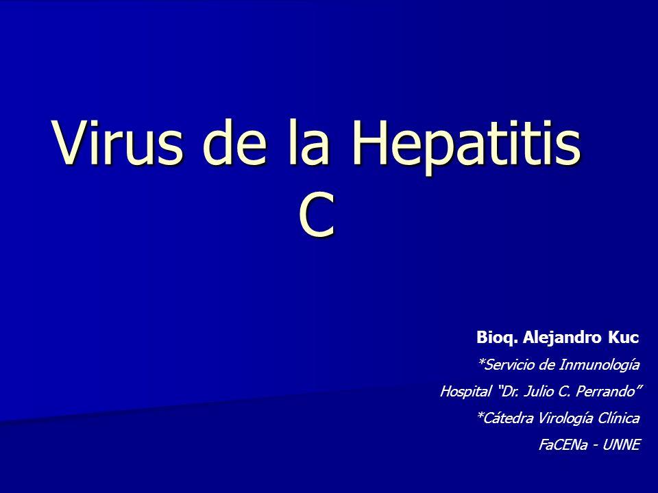Virus de la Hepatitis C Bioq. Alejandro Kuc *Servicio de Inmunología Hospital Dr. Julio C. Perrando *Cátedra Virología Clínica FaCENa - UNNE