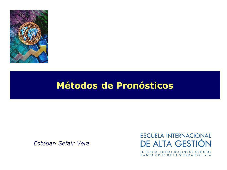 Métodos de Pronósticos Esteban Sefair Vera