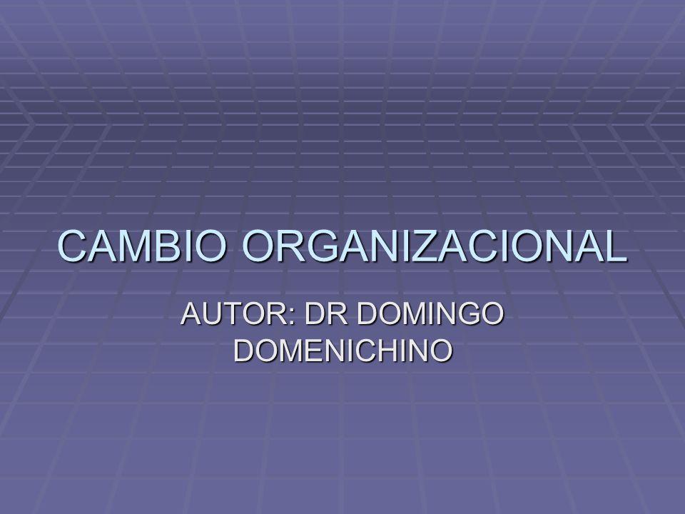 CAMBIO ORGANIZACIONAL AUTOR: DR DOMINGO DOMENICHINO