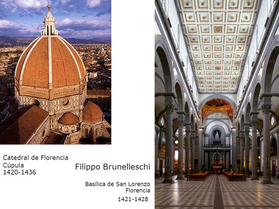 Filippo Brunelleschi Basílica de San Lorenzo Florencia 1421-1428 Catedral de Florencia Cúpula 1420-1436