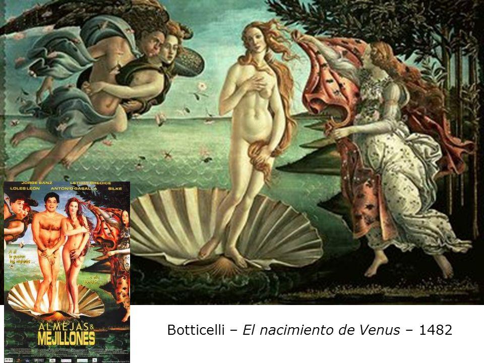 Botticelli – El nacimiento de Venus – 1482