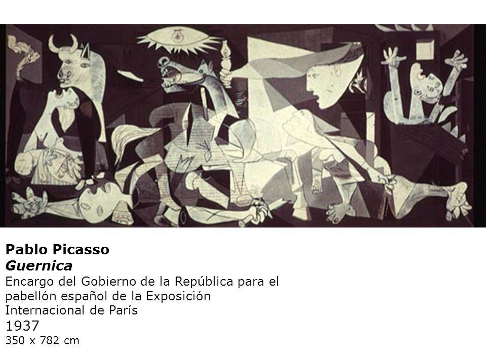 Pablo Picasso Guernica Encargo del Gobierno de la República para el pabellón español de la Exposición Internacional de París 1937 350 x 782 cm