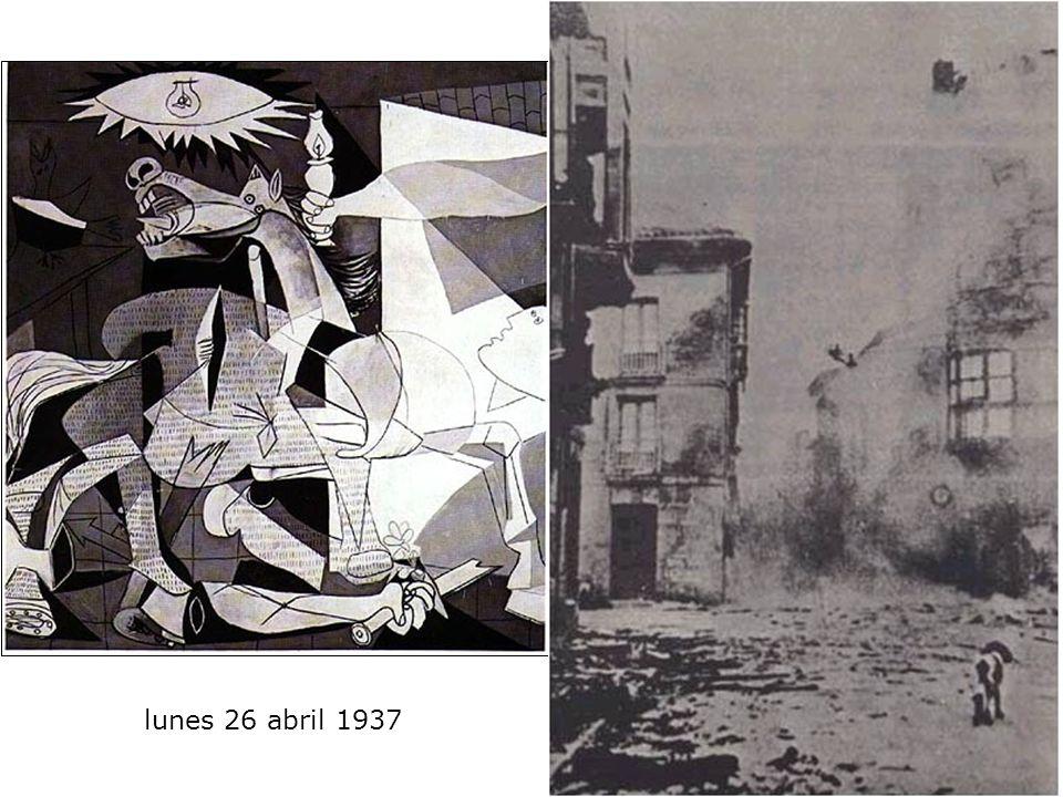 lunes 26 abril 1937 No, la pintura no está hecha para decorar las habitaciones. Es un instrumento de guerra ofensivo y defensivo contra el enemigo. Pa