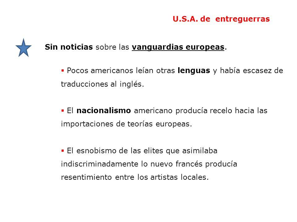 Pocos americanos leían otras lenguas y había escasez de traducciones al inglés. El nacionalismo americano producía recelo hacia las importaciones de t
