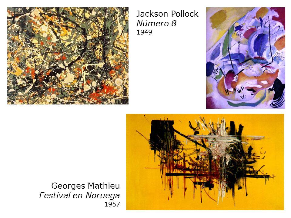Georges Mathieu Festival en Noruega 1957 Jackson Pollock Número 8 1949