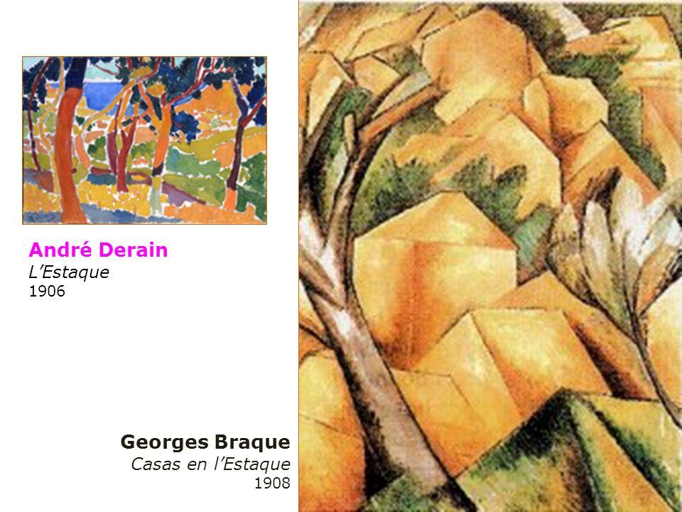 André Derain LEstaque 1906 Georges Braque Casas en lEstaque 1908