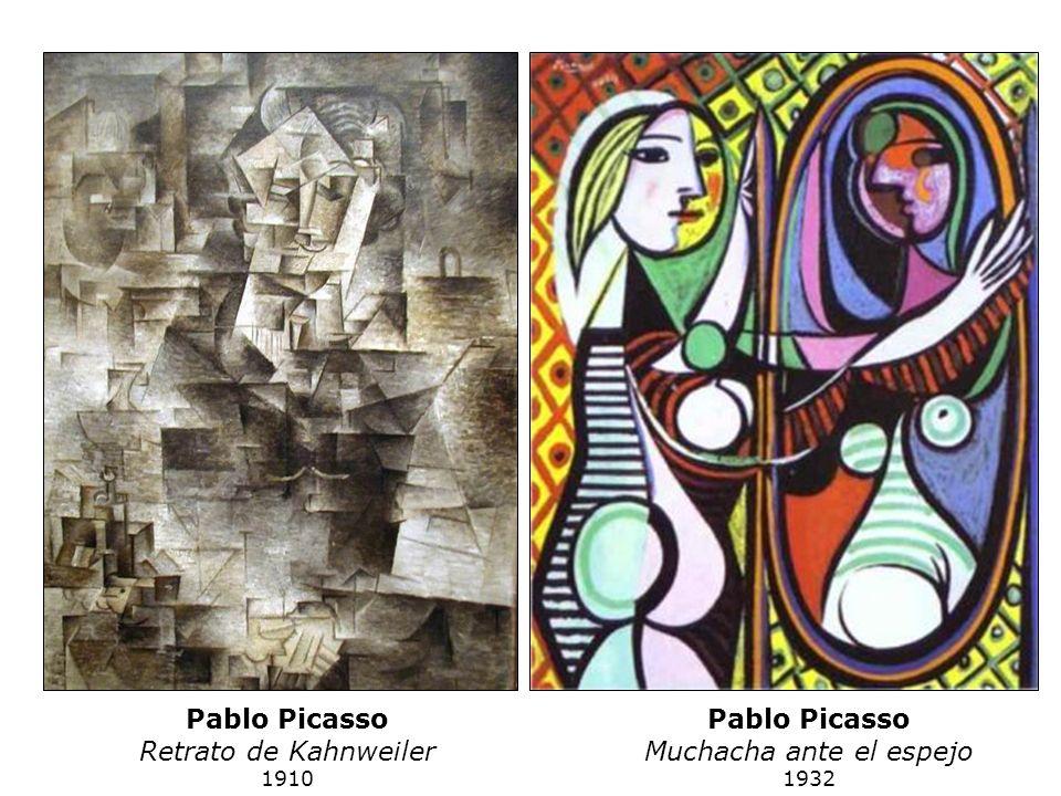 Pablo Picasso Retrato de Kahnweiler 1910 Pablo Picasso Muchacha ante el espejo 1932