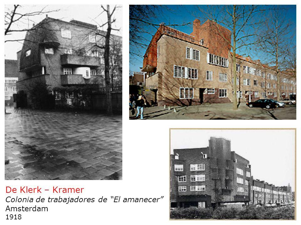 De Klerk – Kramer Colonia de trabajadores de El amanecer Amsterdam 1918