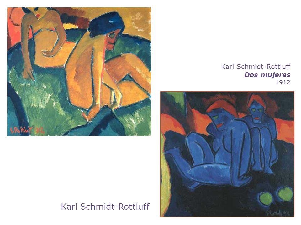 Karl Schmidt-Rottluff Dos mujeres 1912