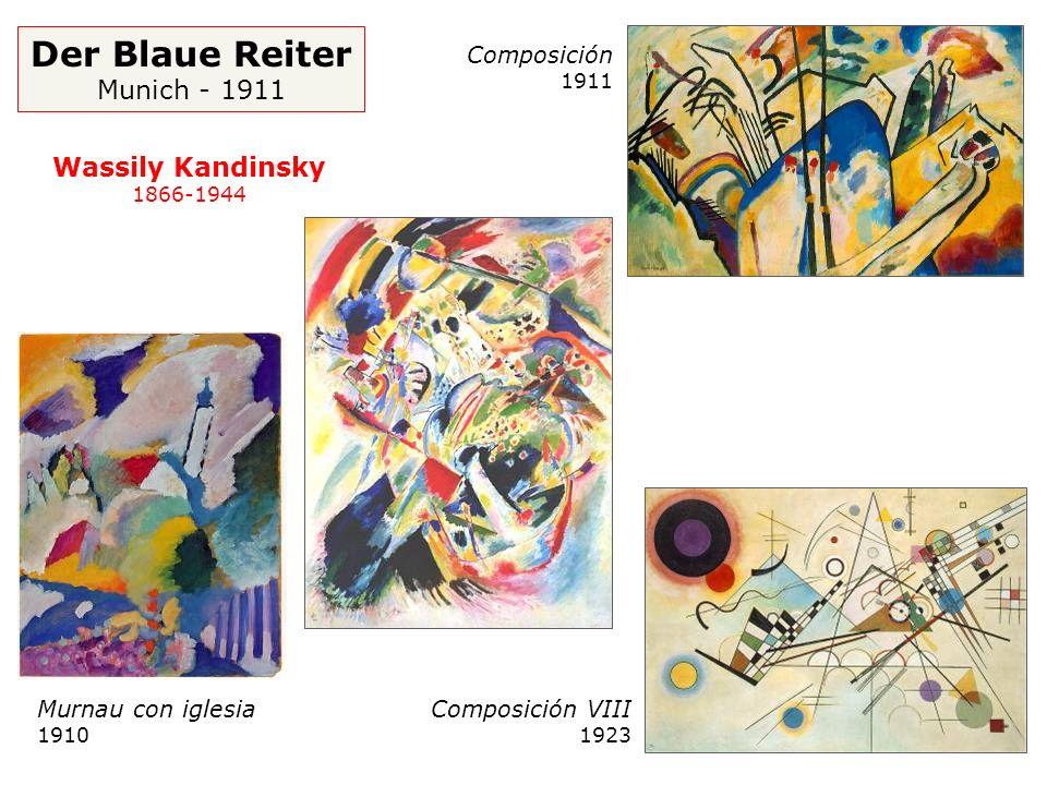 Der Blaue Reiter Munich - 1911 Murnau con iglesia 1910 Composición 1911 Composición VIII 1923 Wassily Kandinsky 1866-1944