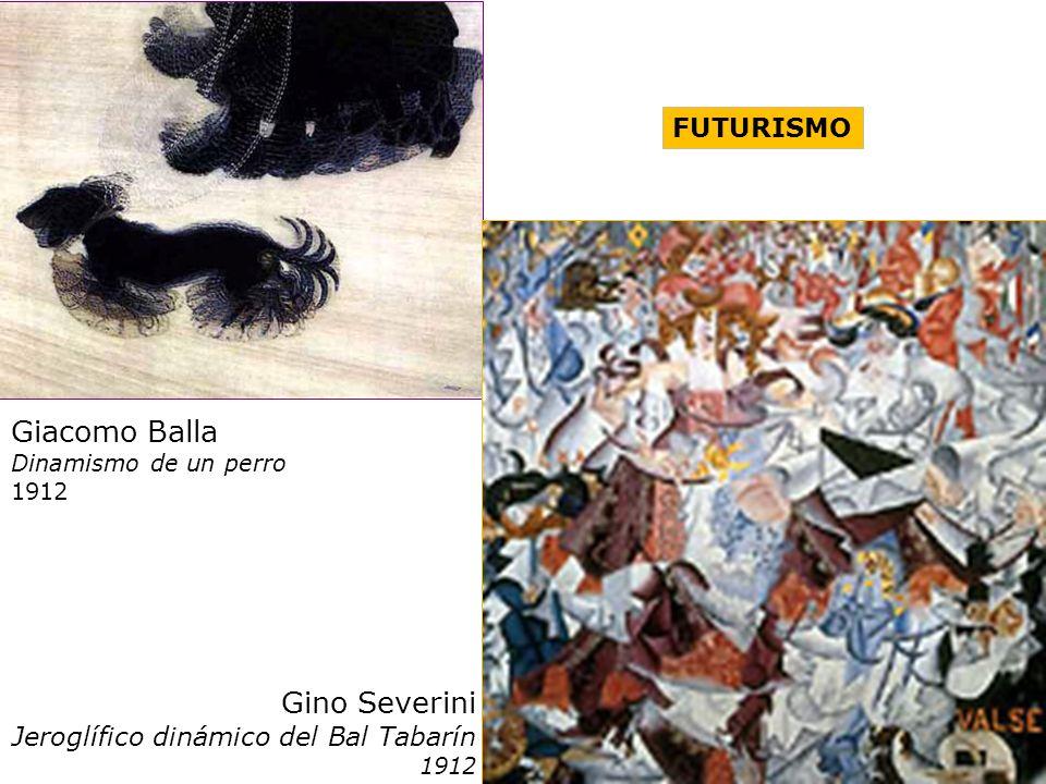 Giacomo Balla Dinamismo de un perro 1912 FUTURISMO Gino Severini Jeroglífico dinámico del Bal Tabarín 1912