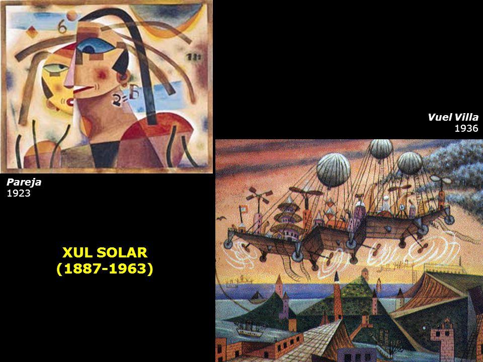 XUL SOLAR (1887-1963) Pareja 1923 Vuel Villa 1936