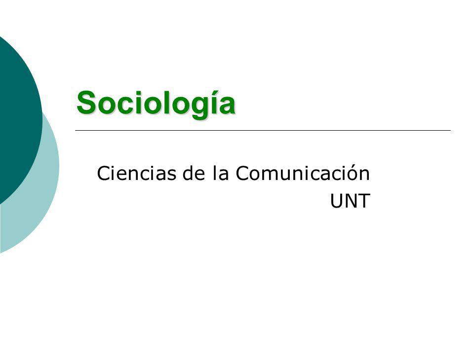 Sociología Ciencias de la Comunicación UNT