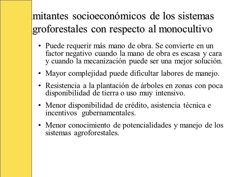 Criterios para clasificar los sistemas agroforestales (Nair, 1997) Base estructural Se verifica la clase componente y su distribución, considerando el arreglo espacial del componente leñoso, la estratificación vertical y el arreglo temporal de todos los componentes.