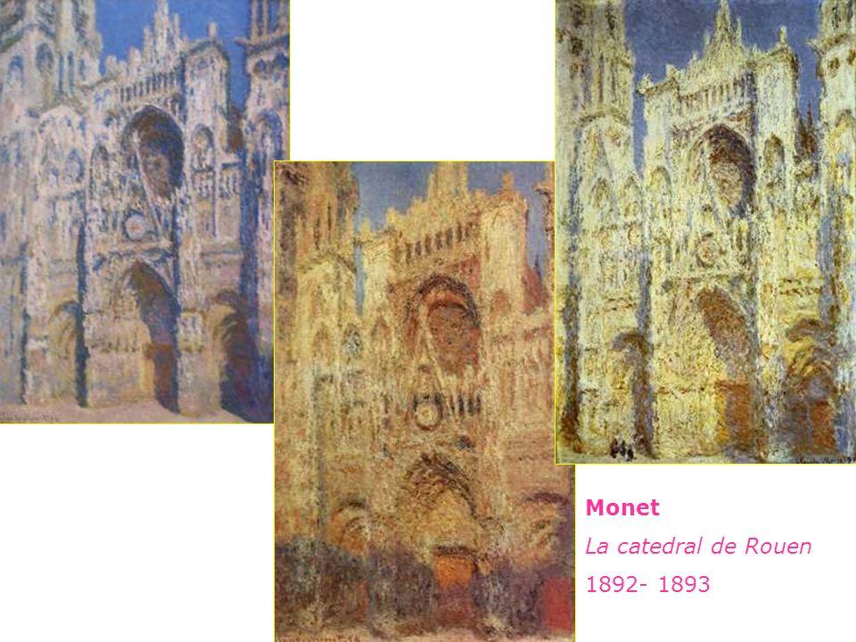 Monet La catedral de Rouen 1892- 1893