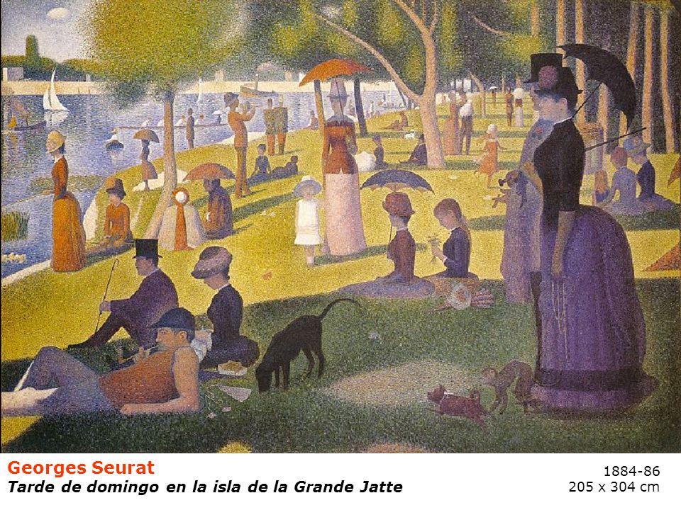 Georges Seurat Tarde de domingo en la isla de la Grande Jatte 1884-86 205 x 304 cm