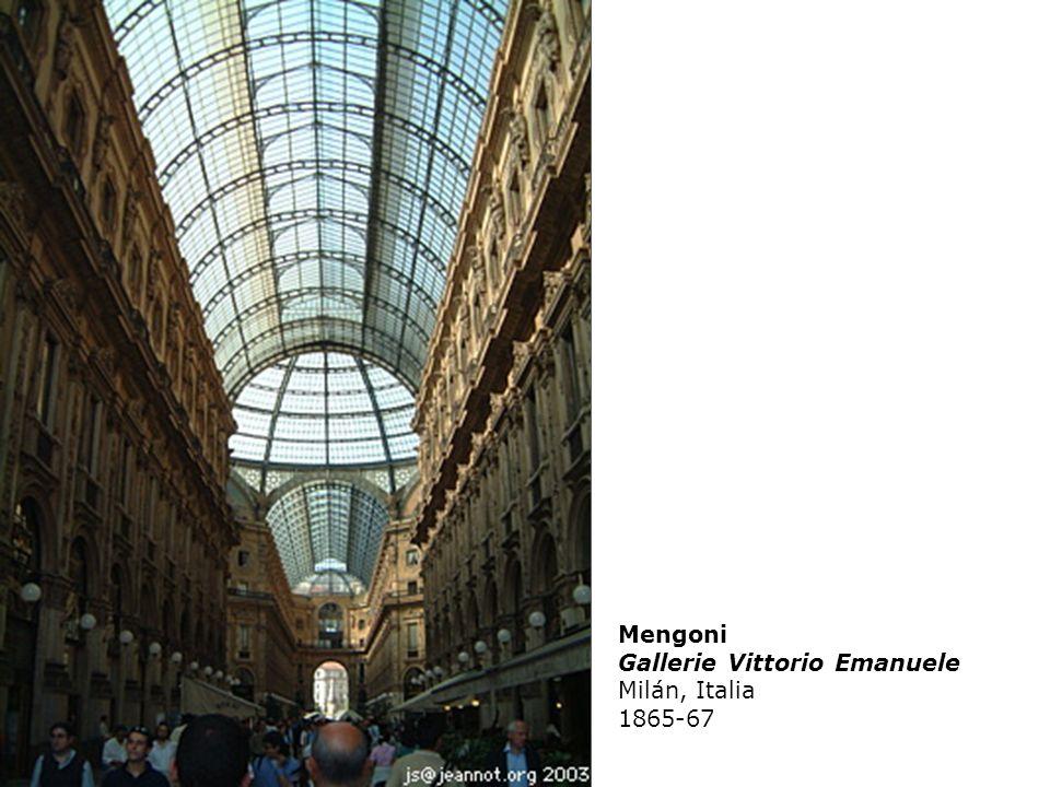 Mengoni Gallerie Vittorio Emanuele Milán, Italia 1865-67