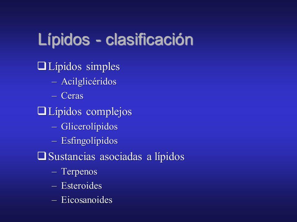 Funciones de los lípidos 1. Energética: combustible de alto valor calórico (±10 kcal/g), de uso diferido. Sólo admiten degradación aeróbica (respiraci
