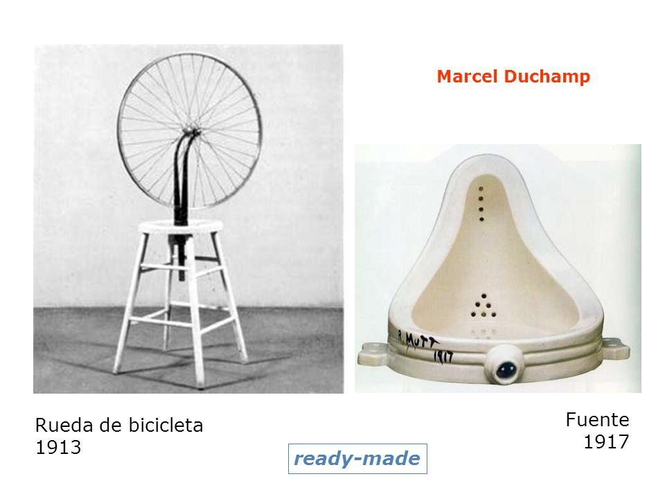 Marcel Duchamp Fuente 1917 Rueda de bicicleta 1913 ready-made