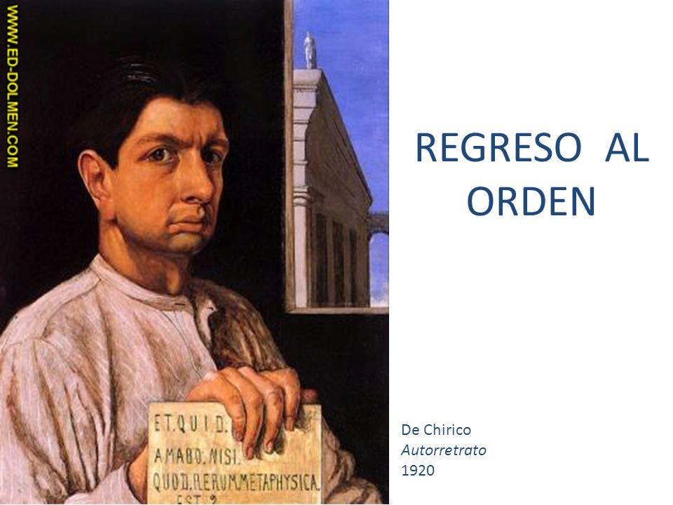 De Chirico Autorretrato 1920 REGRESO AL ORDEN