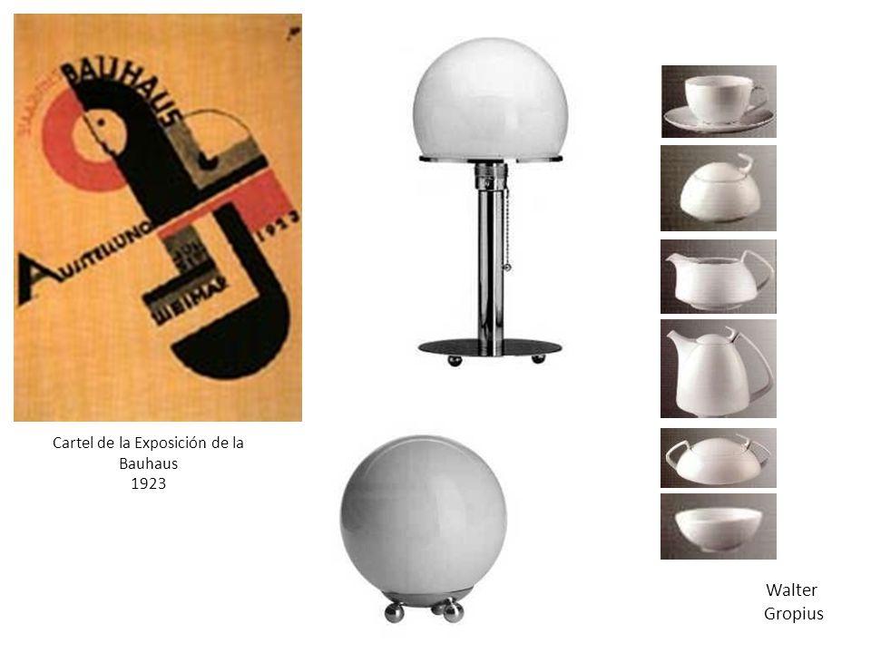 Walter Gropius Cartel de la Exposición de la Bauhaus 1923