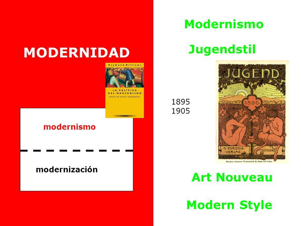 modernismo modernización MODERNIDAD Modernismo Jugendstil Art Nouveau Modern Style 1895 1905