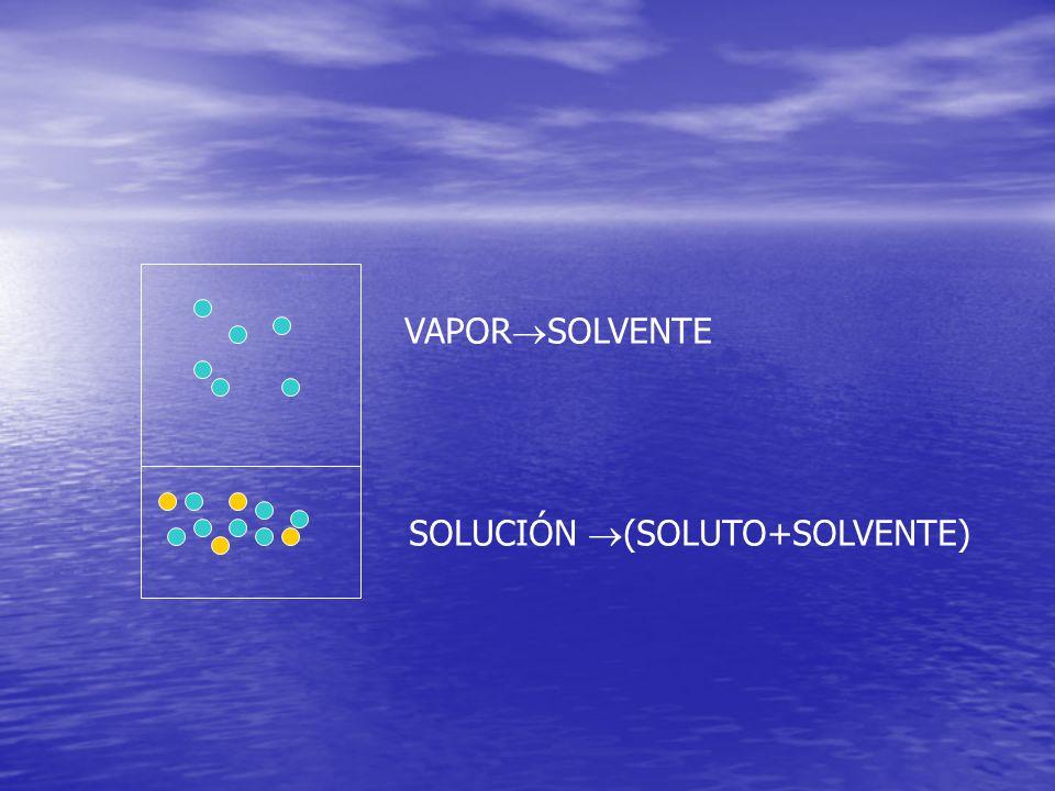 VAPOR SOLVENTE SOLUCIÓN (SOLUTO+SOLVENTE)