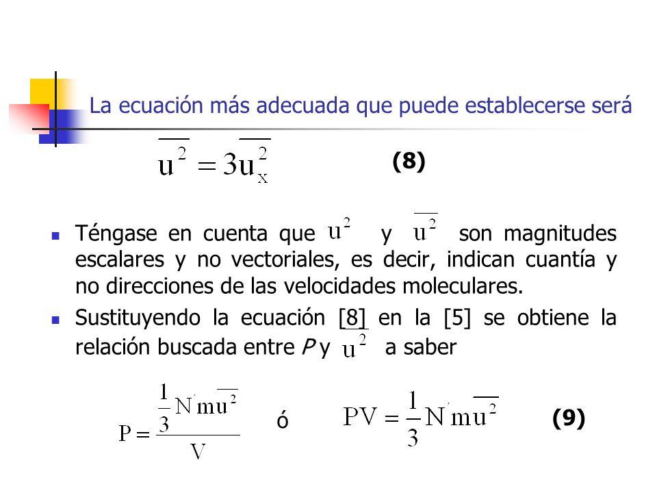 Esta importante ecuación es, en principio, el resultado final del presente razonamiento.