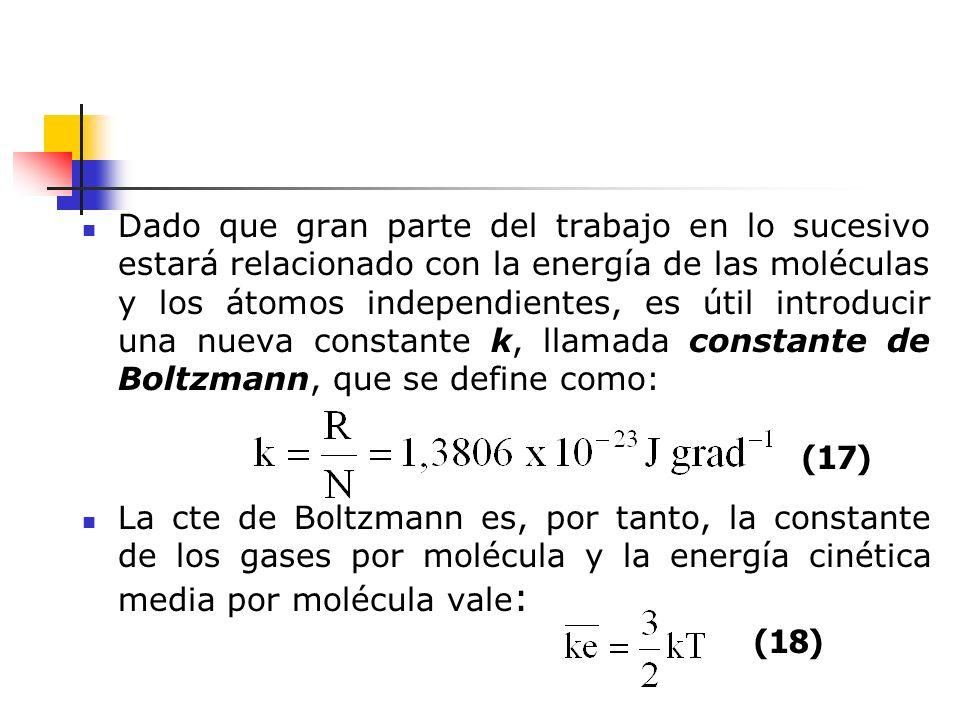 La energía cinética media de una molécula de cualquier gas a 25 ºC es, Aunque los valores de las energ í as cin é ticas medias son muy importantes, al principio es dif í cil apreciarlo por ello es preferible fijar la atenci ó n en otra propiedad molecular, estrechamente relacionada con la energ í a y m á s f á cil de intuir: la velocidad con que las mol é culas se desplazan