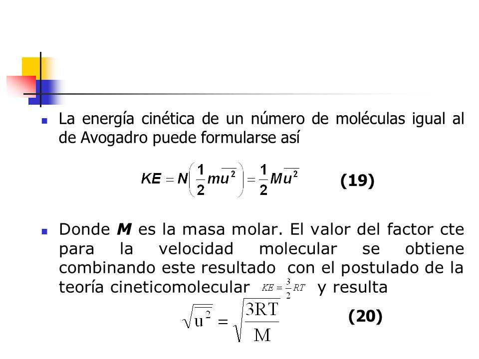 La magnitud se conoce como velocidad cuadrática media (V.C.M.), la cual significa que cada velocidad se ha de tomar su valor elevado al cuadrado, se han de promediar los cuadrados de éstas velocidades y se toma la raíz cuadrado de este valor medio.