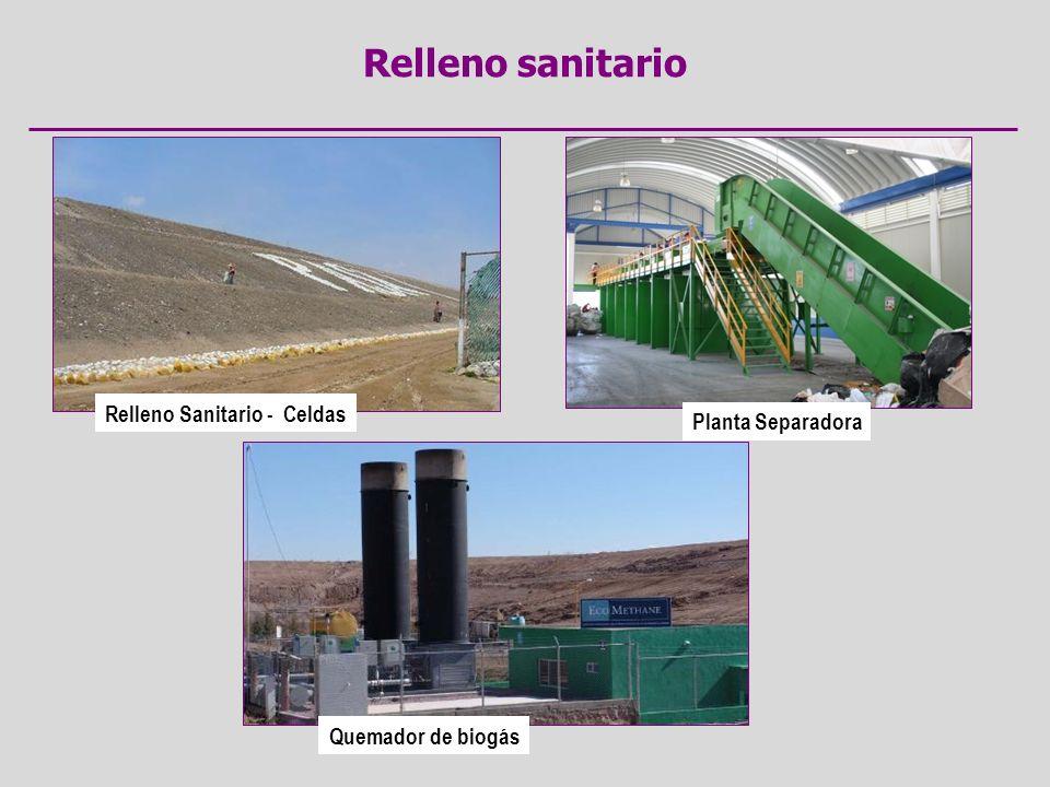 Relleno Sanitario - Celdas Quemador de biogás Planta Separadora
