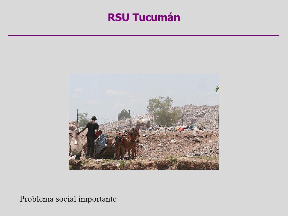 RSU Tucumán Problema social importante