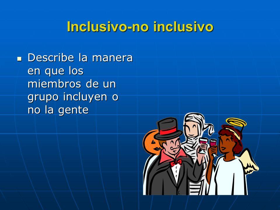 Tipos de posturas Inclusiva-no inclusiva De orientación frente a frente o paralela De congruencia-incongruencia