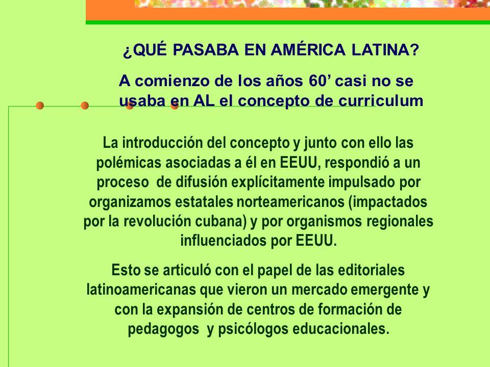 Señala Díaz Barriga que La exportación de las teorías pedagógicas que se generan en el contexto del capitalismo estadounidense se convierte en una tarea prioritaria, a fin de consolidar las condiciones ideológicas para la reproducción de un modelo capitalista dependiente en AL.